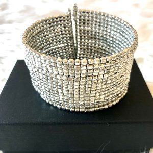 Silver sparkly cuff